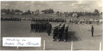 1963 Scotch College Cadets and N.C.Os & Pipe Band Marching in the Anzac Day Parade