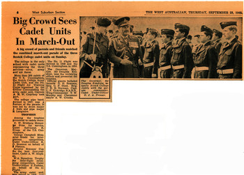 1965 Big Crowd Sees Cadet Units In March-Out Army Cadets and N.C.Os and Pipe Band March Out Parade 1965.9.19