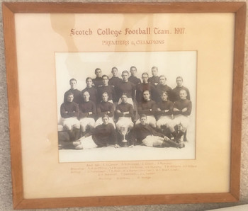 1917 Scotch College Football Team XVIII Premiers and Champions