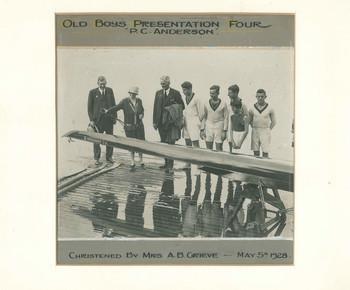 1928 Old Boys Rowing IV Crew Presentation at Boatshed