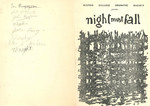 1959 Night Must Fall Dramatic Society Play Programme