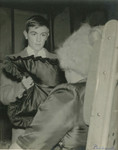 1959 Night Must Fall Dramatic Society Play photograph of Tom Stacy playing character Dan