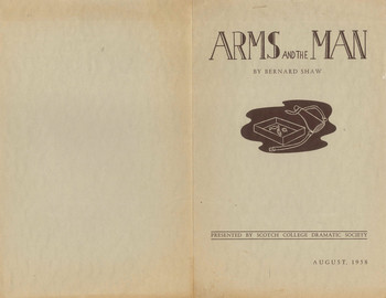 1958 Arms and the Man Dramatic Society production Programme