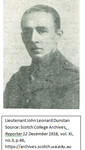 1891 - 1918 John Leonard Dunstan (OSC
