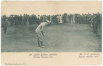 1893 Peter Corsar Anderson taking part in the Amateur Golf Championship at St Andrews Gold course Scotland