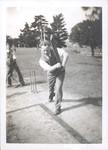 1940-1950s Teaching Master playing Cricket
