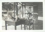 1940 - 1950s Student on the verandah of Campbell House