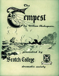 1954 The Tempest - Dramatic Society Production Programme