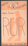 1947 Rur by Karel Capeks Production Programme