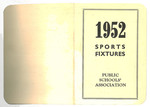 1952 Public School Association Sports Fixtures Booklet