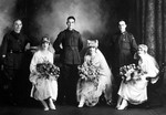 1919 Photograph of wedding to Vickie Hamel at St Georges Cathedral Perth