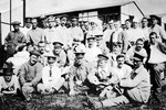 1916 Group Photograph featuring William Bill Hobson OSC1907 at a military hospital in England