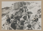 1919c Family and Friends at a Rottnest Beach featuring Geoffrey Maxwell OSC1918 back left