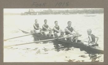 1918 Scotch College 'Four 1918' featuring Geoffrey Maxwell stroke