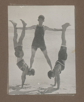 1916 Scotch College Students Gymnastics at Beach