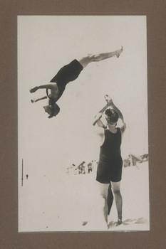 1916 Scotch College Students Gymnastics at the Beach