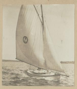 1916c Yacht at Freshwater Bay Western Australia