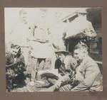 1919 Geoffrey Maxwell OSC1918 back far left with work mates