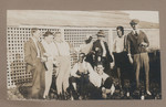 1919 Geoffrey Maxwell OSC1918 second from left and work mates in the Gascoyne Western Australia