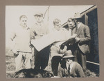 1919c Geoffrey Maxwell far left and work mates in the Gascoyne Western Australia