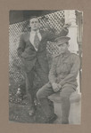 1918c Geoffrey Maxwell OSC1918 (left) and Scotch College friend (right) at home