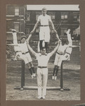 1918c Scotch College Gymnastics display featuring Geoffrey Maxwell OSC1918 centre bottom on the Top Oval Swanbourne Western Australia