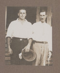 1919c Geoffrey Maxwell OSC1918 (left) and friend (right)