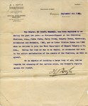 6.9.1922 H.J. Doyle reference letter for Geoffrey Arthur Patrick Maxwell OSC1918