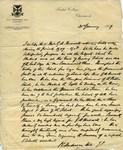 21.1.1919 Reference letter from Headmaster Peter Corsar Anderson regarding Geoffrey Arthur Patrick Maxwell OSC1918