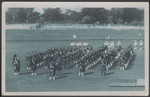 1955 Pipe Band after Athletics competition on Playing Fields