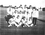 1947-1950 Scotch College P.S.A. First Cricket Team XI pictured on the Memorial Grounds oval after winning the Darlot Cup