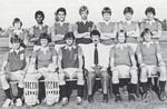 1981 Hockey Team featuring coach Peter Freitag