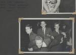 1959 Scotch College Boarders Dance Ken Adderley OSC1960, Barry Sorrenson OSC1960, Barry McCrea OSC1960, Lindsay Wilson OSC1960 (front).